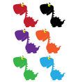 dino cartoon cute color vector image vector image