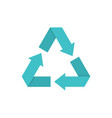 eco recycled symbol vector image vector image