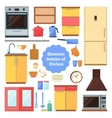 Elements of the interior kitchen vector image vector image