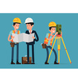 Engineer Character Icons vector image vector image