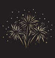 firework glitter gold foil vector image
