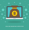 Flat design business concept Online banking vector image vector image