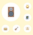 flat icons radio audio box lyre and other vector image vector image