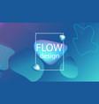 flow shapes background wavy abstract cover vector image