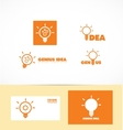 Genius idea light bulb logo vector image