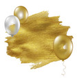 golden blot with balloons vector image vector image