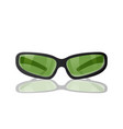 green glasses for protection from the sun vector image vector image