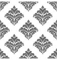 Grey seamless floral pattern vector image vector image