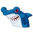 Hammerhead shark mascot cartoon character vector image vector image