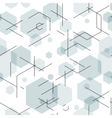 Hexagon seamless tech pattern vector image vector image