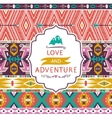 Hipster seamless tribal pattern with geometric vector image vector image