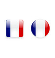 Icons with French flag vector image vector image