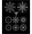 impossible geometry symbols set vector image vector image