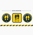 install a social distance floor sticker please vector image vector image