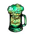 Irish holiday green beer spirit vector image