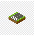 isolated footer isometric footpassenger