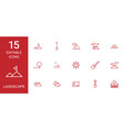 landscape icons vector image vector image