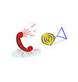 live online customer support service with red vector image vector image