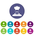 Male chef cook set icons vector image vector image
