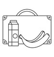 milk banana lunch icon outline style vector image