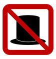 No hat sign vector image vector image