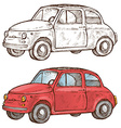old italian car vector image