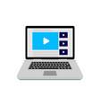 online video service vector image vector image