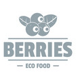 organic berries logo simple gray style vector image vector image