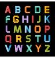 Paper color alphabet vector image