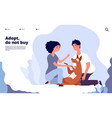 people with pets concept happy persons adopt pet vector image