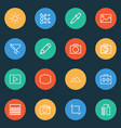 photo icons line style set with colorless no vector image