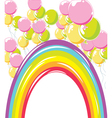 Rainbow and balloons vector | Price: 1 Credit (USD $1)