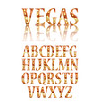 realistic lamps alphabet vector image vector image