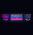 referral program neon text neon sign vector image