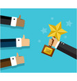 reward and approval people vector image