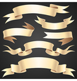 ribbons paper set vector image vector image