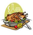 roast goose vector image vector image