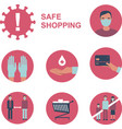 safe shopping during coronavirus outbreak vector image vector image