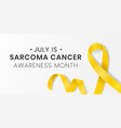 sarcoma cancer awareness month banner design vector image vector image