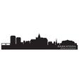 Saskatoon Canada skyline Detailed silhouette vector image vector image