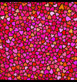 Seamless hand drawn background with hearts vector image vector image