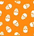 seamless pattern white skulls vector image