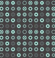 Seamless pattern with gear wheels vector image vector image