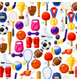 seamless pattern with sport icons vector image vector image