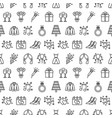 seamless pattern with wedding icons wedding vector image vector image
