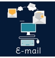 Sending and receiving e-mail concept vector image vector image