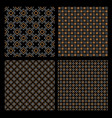 set of four geometric seamless patterns - celtic vector image vector image