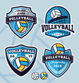 Set of volleyball logo template design vector image vector image