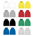 set technical sketch for men hoodie front and vector image vector image