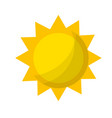 shine sun to spring to natural weather vector image